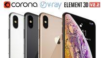 مدل سه بعدی گوشی آیفون Apple iPhone XS MAX