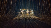 پروژه افترافکت عناوین مراسم جوایز Awards Titles