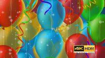 ویدیوی موشن گرافیک بادکنک و اجزای تزیینی جشن و مهمانی