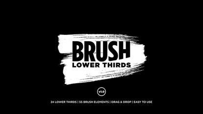 پروژه افترافکت زیرنویس با براش نقاشی Brush Lower Thirds