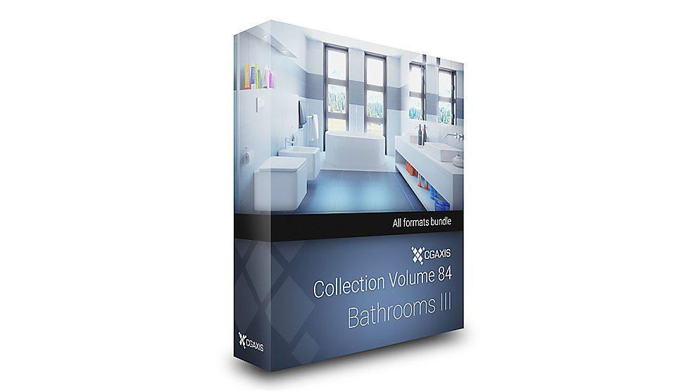 مجموعه مدل سه بعدی حمام و دستشویی CGAxis Models Volume