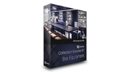 مجموعه مدل سه بعدی تجهیزات بار CGAxis Models Volume 87 Bar