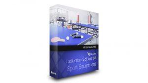 مجموعه مدل سه بعدی تجهیزات ورزشی CGAxis Models Volume 88 Sport