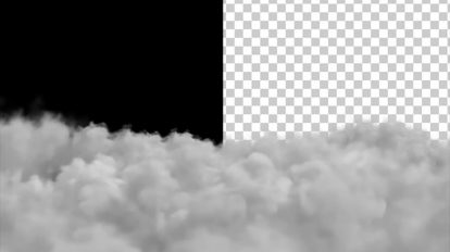 ویدیوی موشن گرافیک حرکت ابرها با کانال آلفا