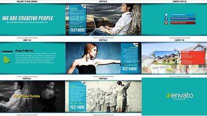 پروژه افترافکت پرزنتیشن نمونه کار Corporate and Portfolio Presentation
