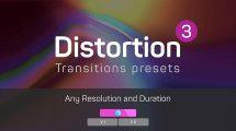 مجموعه پریست پریمیر ترانزیشن دیستورشن Distortion Transitions Presets 3