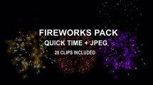 مجموعه ویدیوی موشن گرافیک آتش بازی Fireworks Pack
