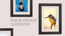 پروژه افترافکت اسلایدشو قاب عکس Frame Mockup Slideshow