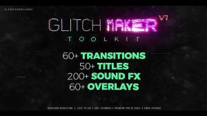 پروژه پریمیر جعبه ابزار ساخت افکت گلیچ Glitch Maker