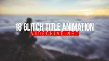پروژه افترافکت مجموعه 18 عنوان متحرک با افکت گلیچ Glitch Titles