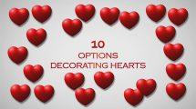 مجموعه ویدیوی موشن گرافیک تزیینی قلب Heart Beat