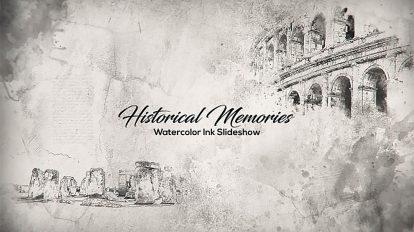 پروژه افترافکت اسلایدشو تاریخی با جوهر آبرنگ Historical Memories