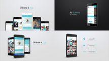 پروژه افترافکت پرزنتیشن اپلیکیشن با آیفون iPhone 6 App Presentation
