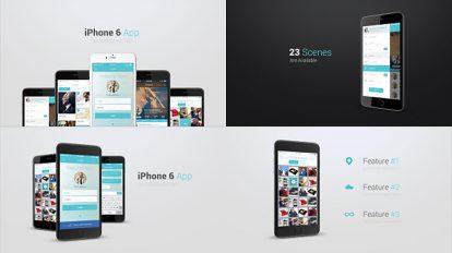 پروژه افترافکت پرزنتیشن آپلیکیشن با آیفون iPhone 6 App Presentation