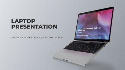 پروژه افترافکت پرزنتیشن روی لپ تاپ Laptop Presentation