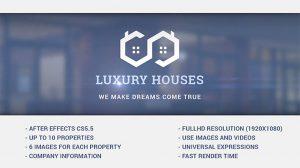 پروژه افترافکت تیزر تبلیغاتی مشاور املاک Luxury Houses