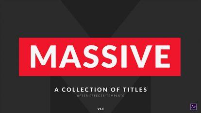 پروژه افترافکت مجوعه عناوین متحرک Massive Titles Pack