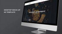 پروژه افترافکت تیزر تبلیغاتی روی دسکتاپ Minimalistic Desktop Promo