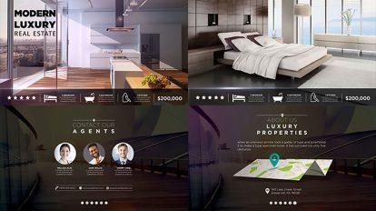 پروژه افترافکت تیزر تبلیغاتی مشاور املاک مدرن Modern Real Estate
