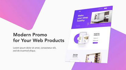 پروژه افترافکت تیزر تبلیغاتی مدرن برای وبسایت Modern Website Promo