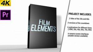 پروژه پریمیر مجموعه اجزای موشن فیلم Movie Element Pack