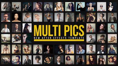 پروژه افترافکت اسلایدشو تصاویر Multiple Pictures Slideshow