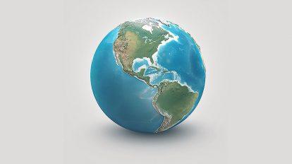 مدل سه بعدی واقعگرایانه کره زمین Planet Earth Realistic