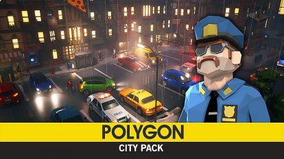 مجموعه مدل سه بعدی فضای شهری Polygon City Pack