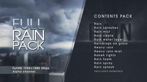 مجموعه فوتیج ویدیویی باران Rain Pack