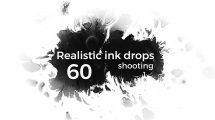 مجموعه ویدیوی موشن گرافیک قطرات جوهر واقعگرایانه Realistic Ink Drops