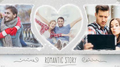 پروژه افترافکت نمایش عکس عروسی Romantic Wedding