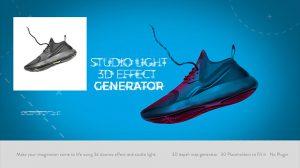 پروژه افترافکت ابزار ساخت افکت سه بعدی Studio Light