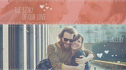 پروژه افترافکت اسلایدشو داستان عاشقانه The Story of Love