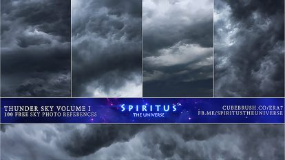 مجموعه تصاویر زمینه آسمان طوفانی Thunder Sky Photos