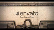 پروژه افترافکت نمایش لوگو روی دستگاه تایپ Typewriter Stomp Intro