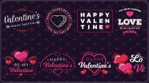 پروژه افترافکت نمایش عناوین ولنتاین Valentine's Day II