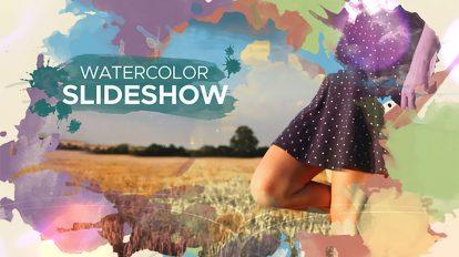 پروژه افترافکت اسلایدشو آبرنگ پارالکس Watercolor Parallax Slideshow