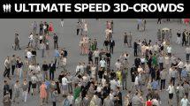 مجموعه مدل سه بعدی جمعیت مردم 3D People Crowds