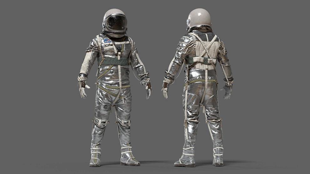 مدل سه بعدی لباس فضانورد ناسا Spacesuit Nasa Mercury Navy